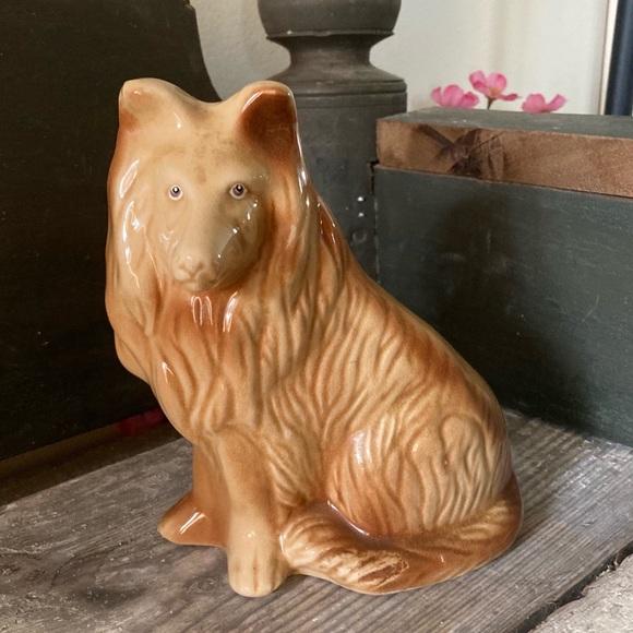 Vintage Collie Lassie Decor Tan Dog from Brazil